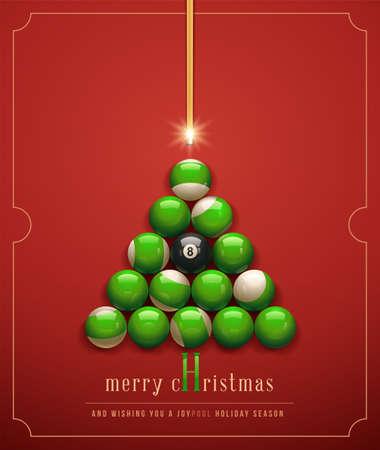 メリー クリスマス希望と、& quot、Joypool & quot は, ホリデー シーズン。  イラスト・ベクター素材