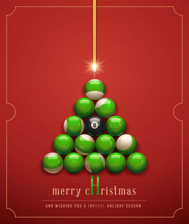 Merry Christmas/ and Wishing you a &quot,Joypool&quot, Holiday Season. Vector