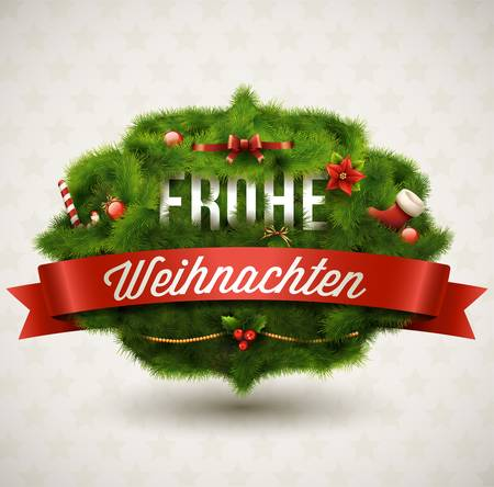 Frohe Weihnachten-Creative Natale Label Archivio Fotografico - 16243134