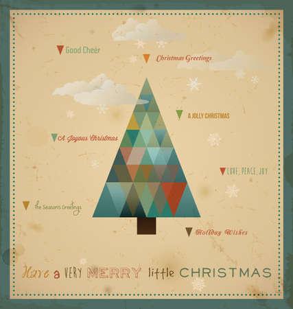 boldog karácsonyt: Karácsonyi üdvözlőlap különböző ünnepek masszázsok Illusztráció