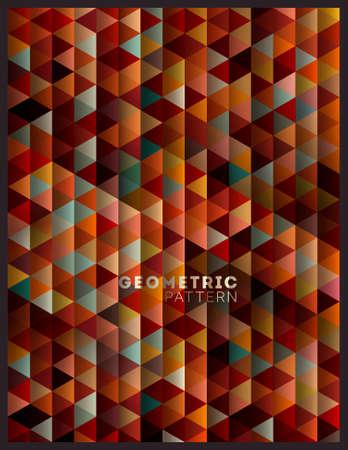 幾何学的なレトロなパターン