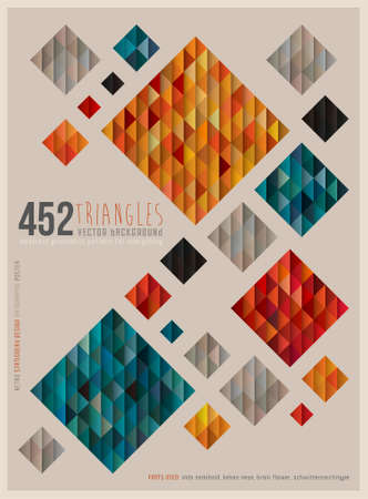 レトロな正方形のポスター  イラスト・ベクター素材