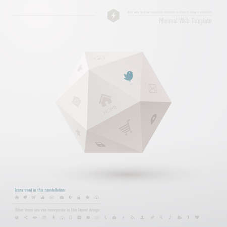 Geometric minimal web template  Vector