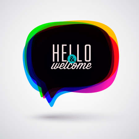 welcome business: Speech Bubble  Illustration