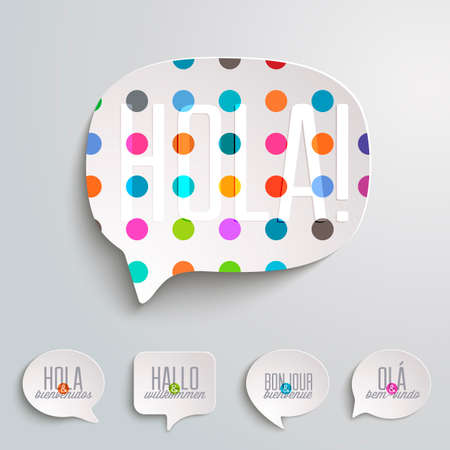 Web Speech Bubbles  Vector
