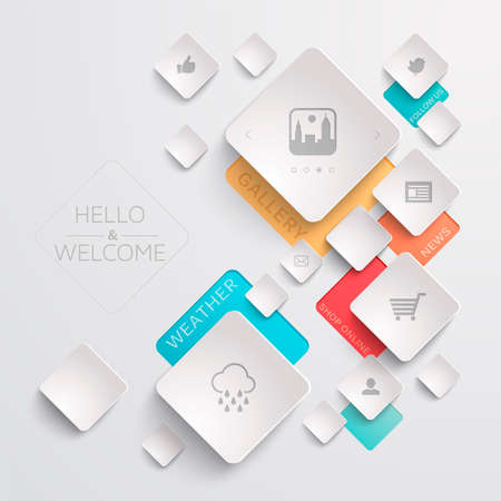 ecommerce icons: Web Template
