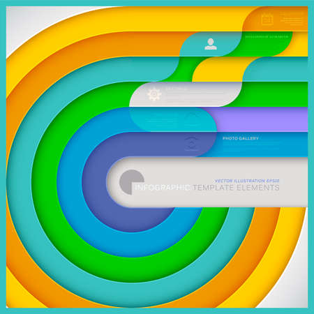 インフォ グラフィック テンプレート web