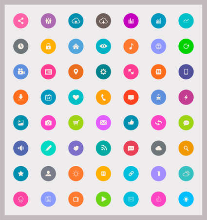 Web and Mobile icons collection Vector