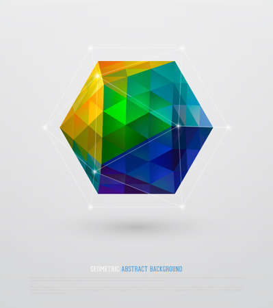 Geometric Abstract Background Stock Illustratie