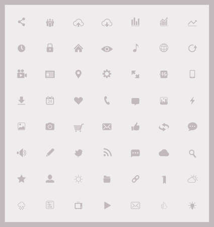 Web and Mobile icons collection Stock Illustratie