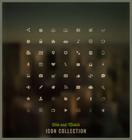 Web and Mobile icon collection Illustration