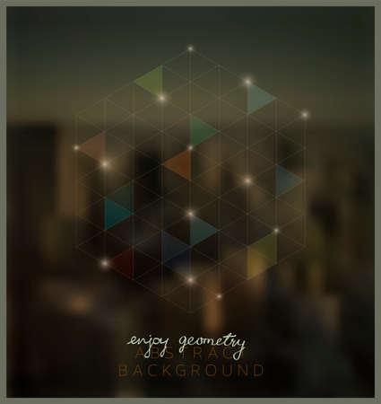teknoloji: Geometrik Soyut Arkaplan