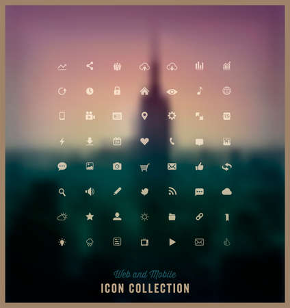 Web and Mobile icon collection Vector