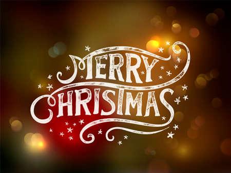 Christmas typography, handwriting  Ilustrace