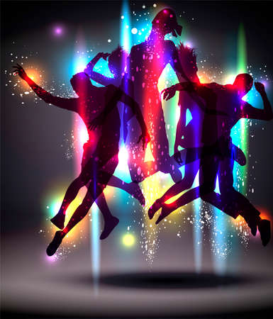 bailarines silueta: Parte de fondo