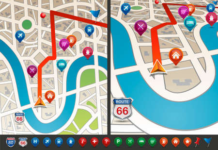 shopping questions: Navigational Map with Icons