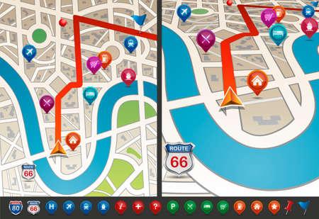 navigational: Navigational Map with Icons