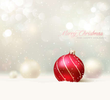 크리스마스 공: 우아한 크리스마스 카드  배경 일러스트