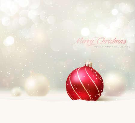 wesolych swiat: Elegancki Christmas Card  Tło Ilustracja