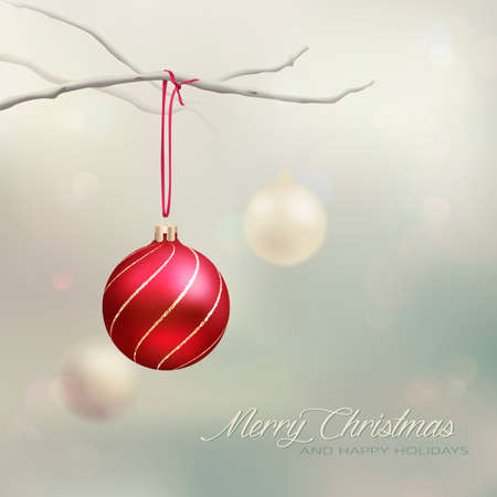 Elegant Christmas CardBackground Ilustrace