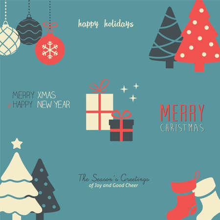 present: Feiertags-Muster  Wallpaper Illustration