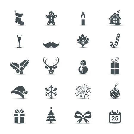 cajas navide�as: Holiday Icons set (Navidad y A�o Nuevo)