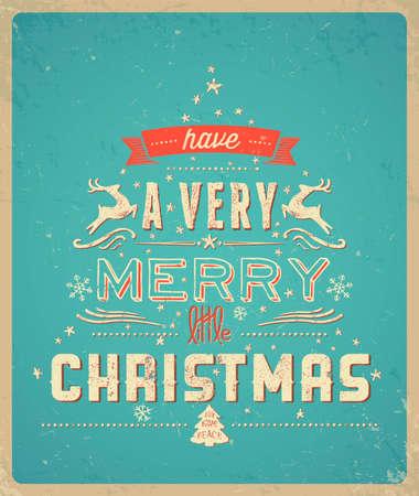 ブルー クリスマスのグリーティング カード