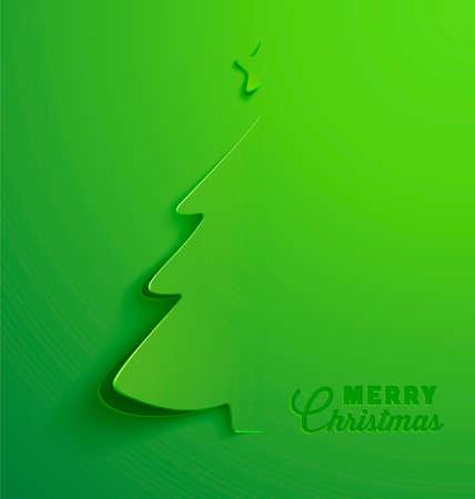 knippen: Het Wenskaart van Kerstmis, kerstboom.