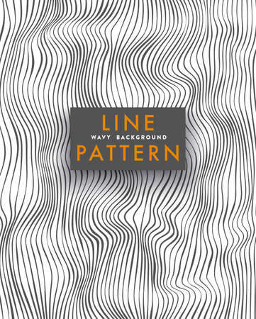 Wavy Line Pattern, Abstract Illustration Illustration