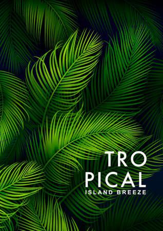 Sfondo di palme tropicali. Illustrazione di estate Archivio Fotografico - 86671446