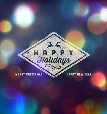 Holidays Handwritten Typography over blurred background 向量圖像