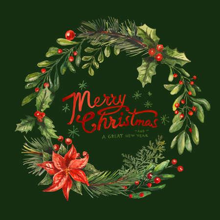 Karta z pozdrowieniami świątecznymi Ilustracje wektorowe