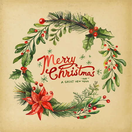 Holiday Greeting Card Illustration