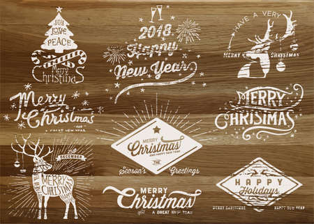 Holiday Design Elements, paint over wood board