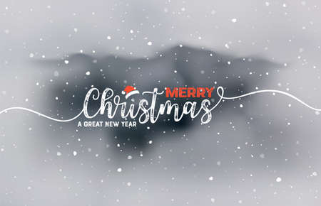 Holidays Handwritten Typography over blurred background Illustration