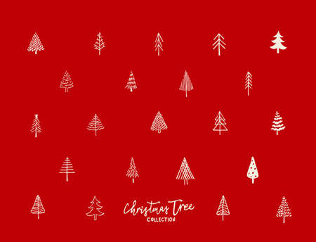 Christmas tree pattern Vector illustration.