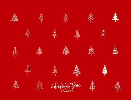 Christmas tree pattern Vector illustration.