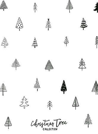 Christmas tree pattern Ilustração