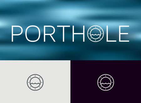 Porthole icon. monoline concept Vektorové ilustrace