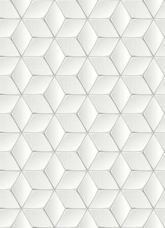 White Isometric Background Vecteurs