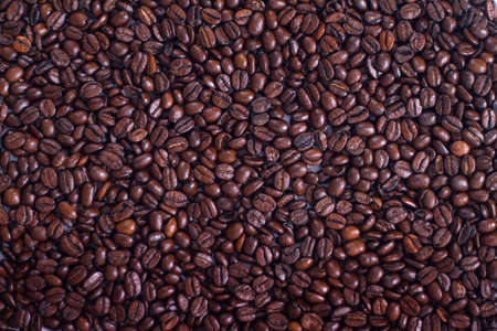 holz: a lot of brown roasted arabica coffee beans as background
