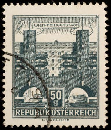 Vintage Austrian postage stamp Stock Photo