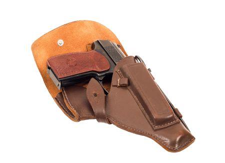 holster: Russian 9mm handgun in holster