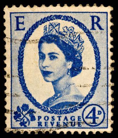 Vintage UK postage stamp