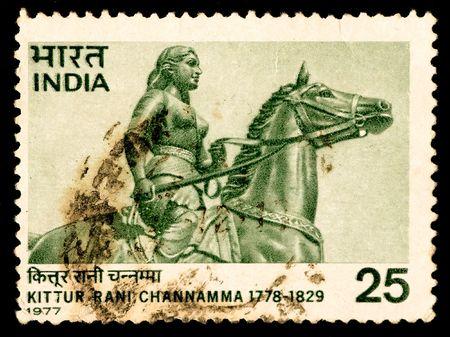 indian postal stamp: Old Indian postal stamp
