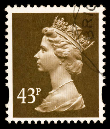 Queen Elizabeth II Postage Stamp Editorial