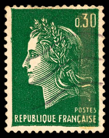 Vintage French postage stamp Stock Photo - 6189084