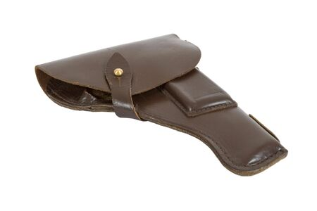 holster: Old Russian army holster on white background