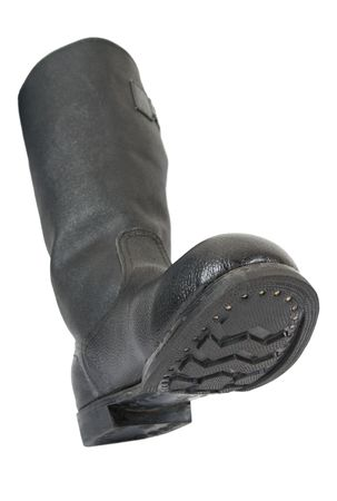 army boots: Army boots on white background Stock Photo