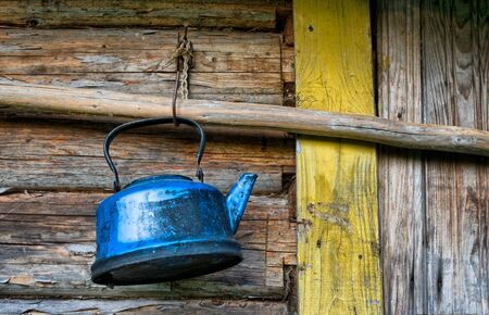 old lost broken kettle Stock Photo